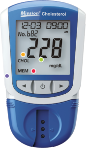 Mission Cholesterol Meter Product Specifications